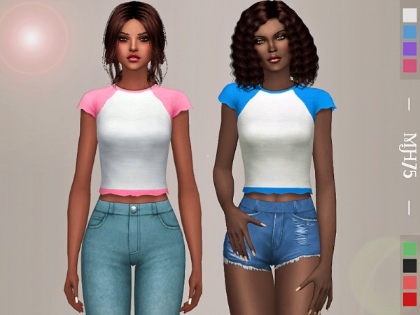 The Sims Resource: Summer Casual Tee by Margeh 75