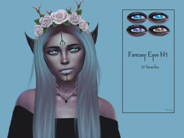 The Sims Resource: Fantasy Eyes N1 by Reevaly