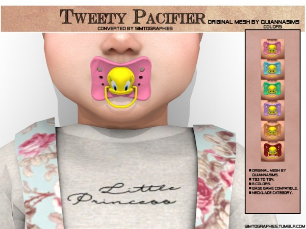 Simtographies: Tweety Pacifier