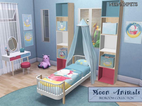 The Sims Resource: Moon Animals Bedroom Collection by neinahpets