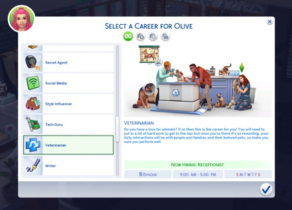 Mod The Sims: Veterinarian Career by pocketpxls