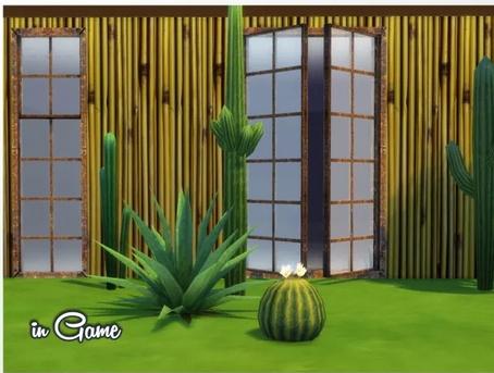 All 4 Sims: Tropical Walls by  Oldbox