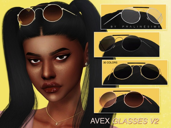The Sims Resource: AVEX Glasses V2 by Pralinesims