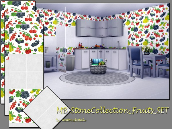 The Sims Resource: Stone Collection Fruits set by matomibotaki