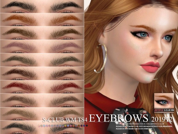 The Sims Resource: Eyebrows 201912 by S Club