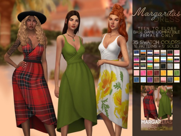 Candy Sims 4: Margaritas dress