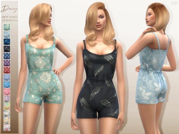The Sims Resource: Daisy Playsuit by Sifix