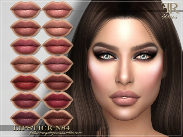The Sims Resource: Lipstick N84 by FashionRoyaltySims