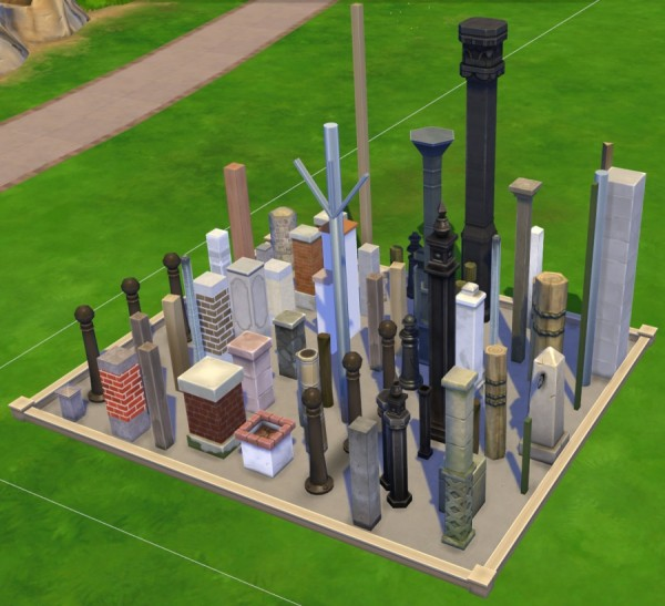Sims Artists: The columns of the debug mode