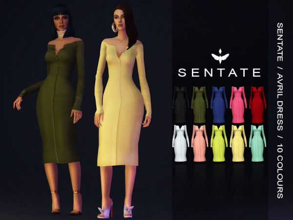 The Sims Resource: Avril Dress by Sentate