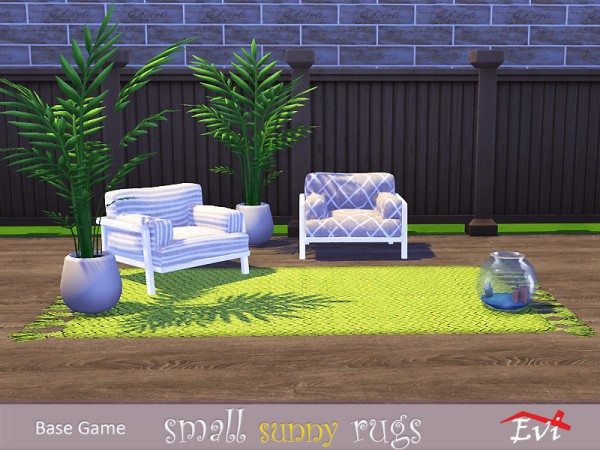 The Sims Resource: Small sunny rugs by evi