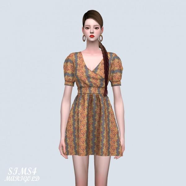 SIMS4 Marigold: Paisley Pattern Mini Dress