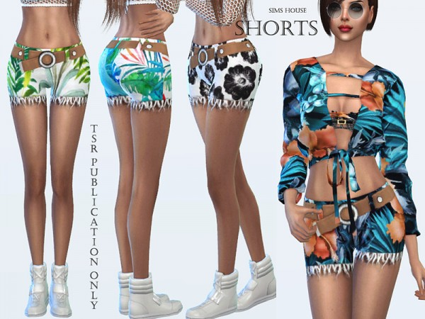 The Sims Resource: Tropics womens shorts by Sims House