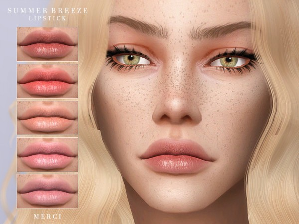The Sims Resource: Summer Breeze Lipstick by Merci