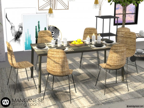 The Sims Resource: Manganese Dining Room by wondymoon