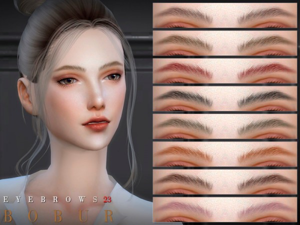 The Sims Resource: Eyebrows 23 by Bobur3