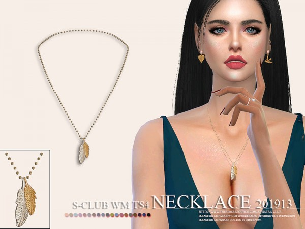 The Sims Resource: Necklace 201913 by S Club