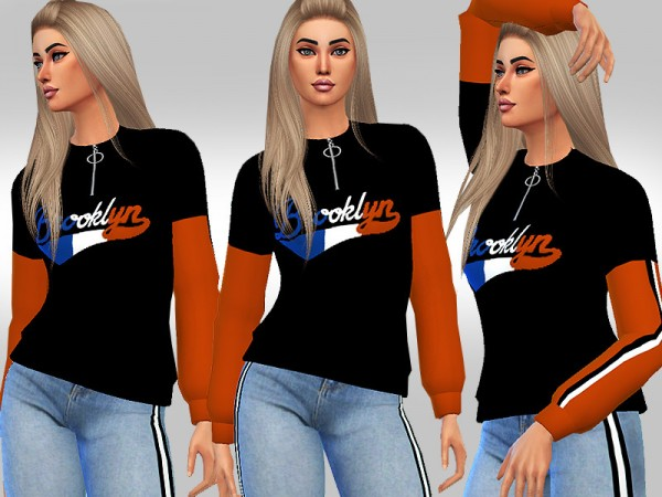 The Sims Resource: Brooklyn Sweatshirt by Saliwa