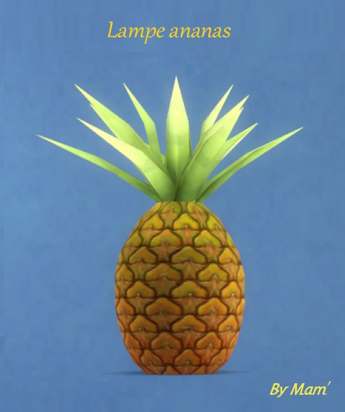 Sims Artists: Fruits lamp