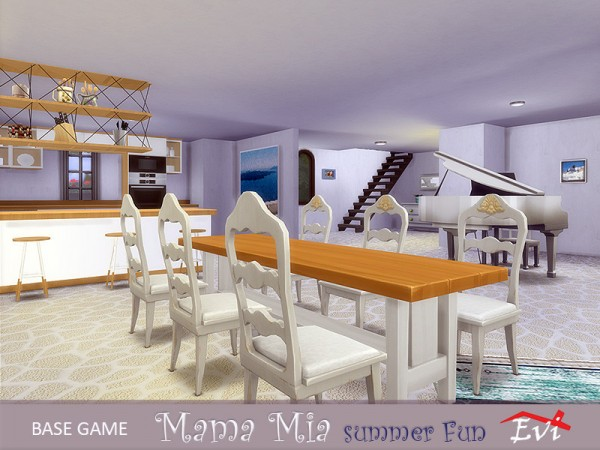 The Sims Resource: Mama Mia summer fun House by evi