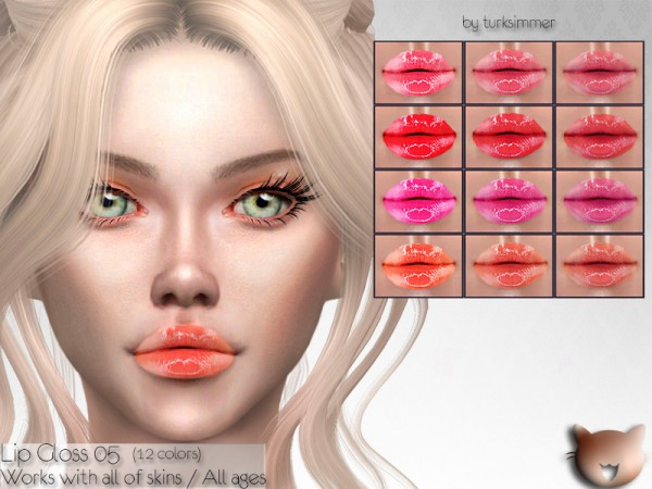 The Sims Resource: Lip Gloss 05 by turksimmer