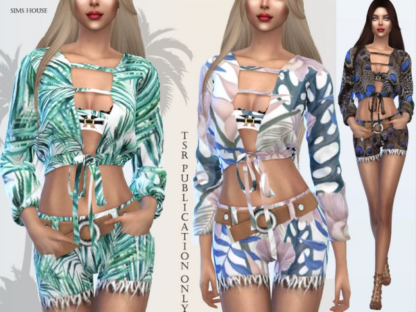 The Sims Resource: Tropics womens blouse by Sims House