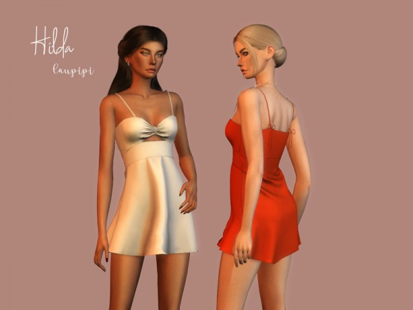 The Sims Resource: Hilda Dress by Laupipi