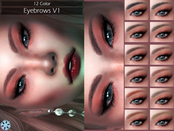 The Sims Resource: Eyebrows V1 by Lisaminicatsims