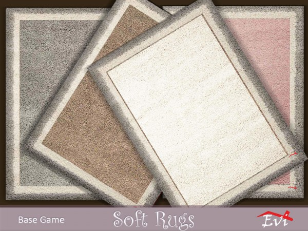 The Sims Resource: Soft Fluffy rugs by evi