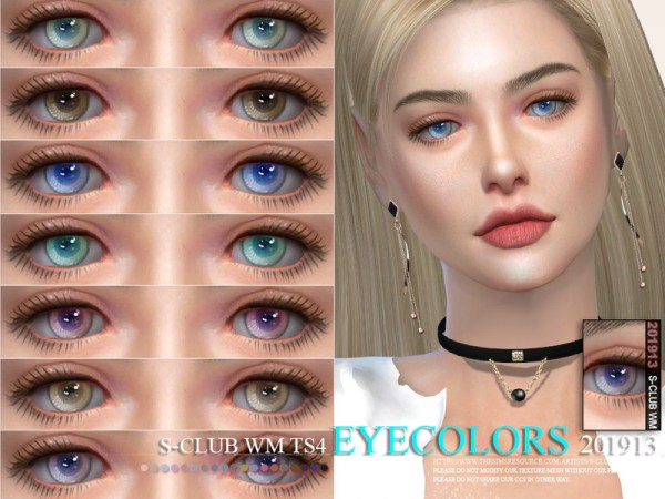 The Sims Resource: Eyecolors 201913 by S Club