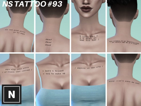 The Sims Resource: Tattoo 93   Set Cryptid by networksims