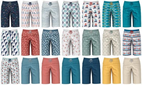 Lazyeyelids: Long swimming shorts