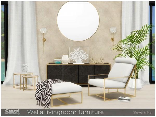 The Sims Resource: Wella livingroom furniture by Severinka