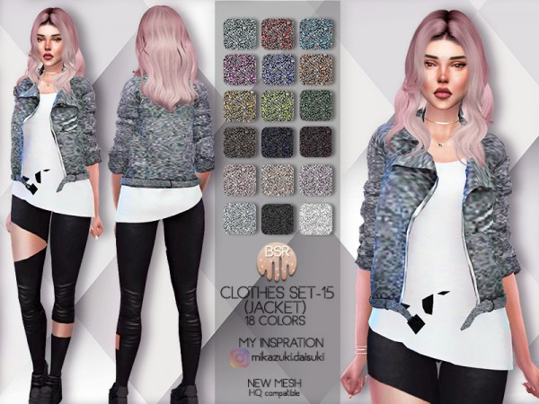 The Sims Resource: Clothes Set 15 jacket by busra tr