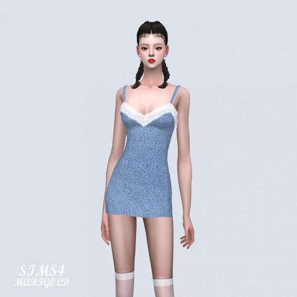 SIMS4 Marigold: Lace Mini Dress