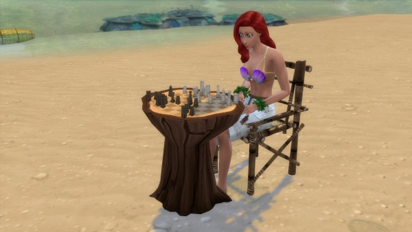 Mod The Sims: The castaways wood chess by Serinion