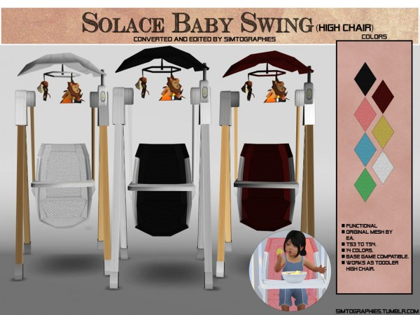 Simtographies: Solace Baby Swing   High Chair