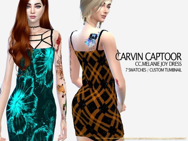 The Sims Resource: Melanie Joy Dress  by carvin captoor