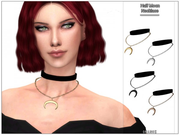 The Sims Resource: Half Moon Necklace by OranosTR