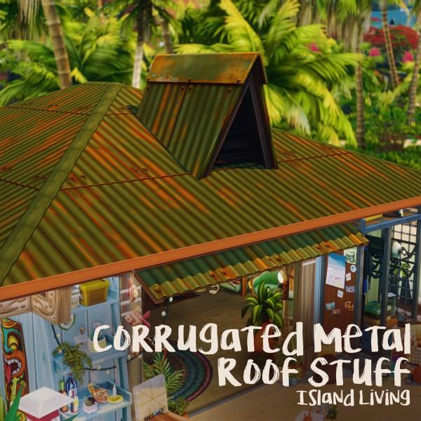 Picture Amoebae: Corrugated metal roof