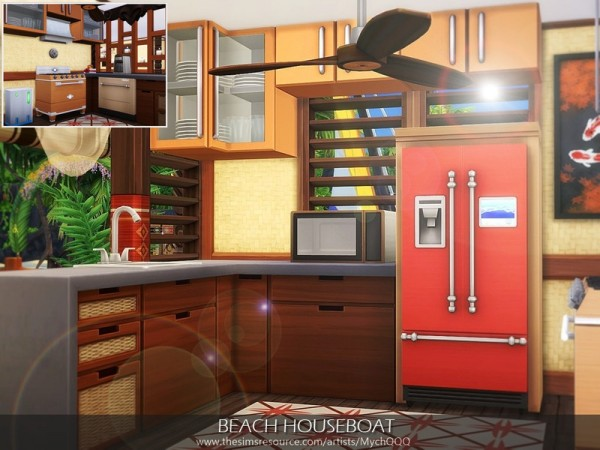 The Sims Resource: Beach Houseboat by MychQQQ