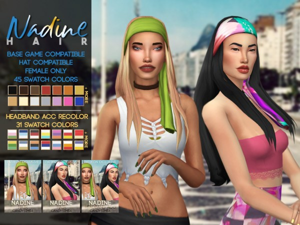 Candy Sims: Nadine Hair