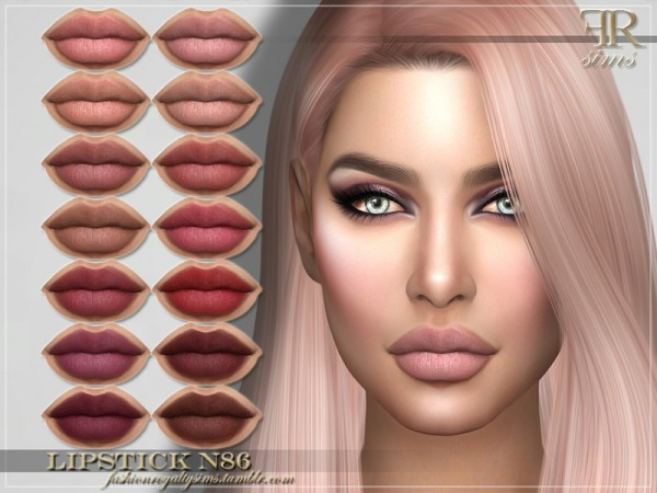 The Sims Resource: Lipstick N86 by FashionRoyaltySims