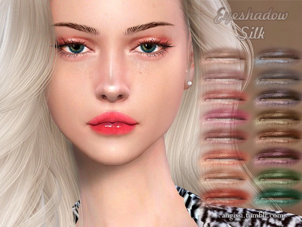 The Sims Resource: Eyeshadow Silk by ANGISSI
