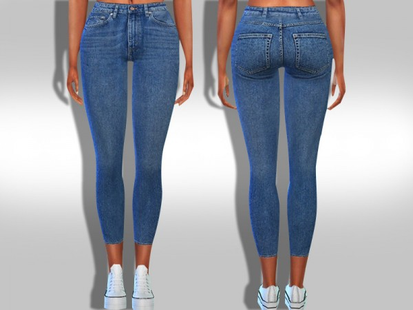 The Sims Resource: Skinny Fit Kate Jeans by Saliwa