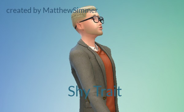 Mod The Sims: Shy Trait  by MatthewSimmer