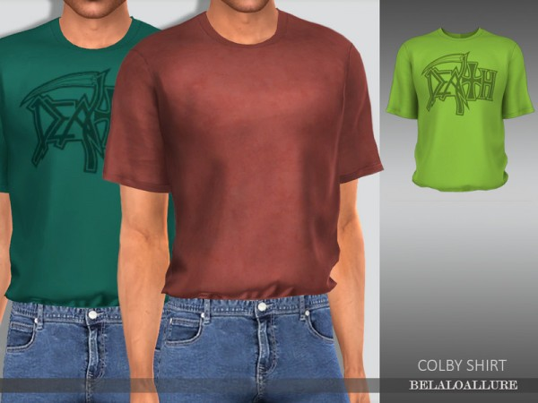 The Sims Resource: Colby shirt by belal1997