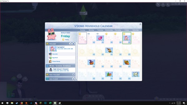 Mod The Sims: Additional Premade Holidays by erekking