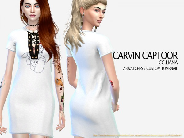 The Sims Resource: Liana dress by carvin captoor