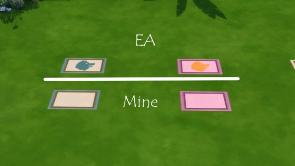 Mod The Sims: No Dog Rug by iloveseals